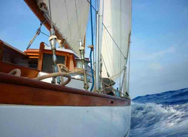 Classic sailing adventure.