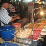 Meat-on-a-stick-in-Thailand
