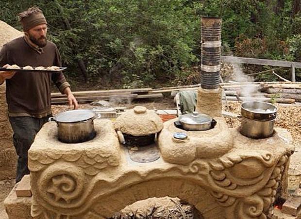 Clay cob Kitchen